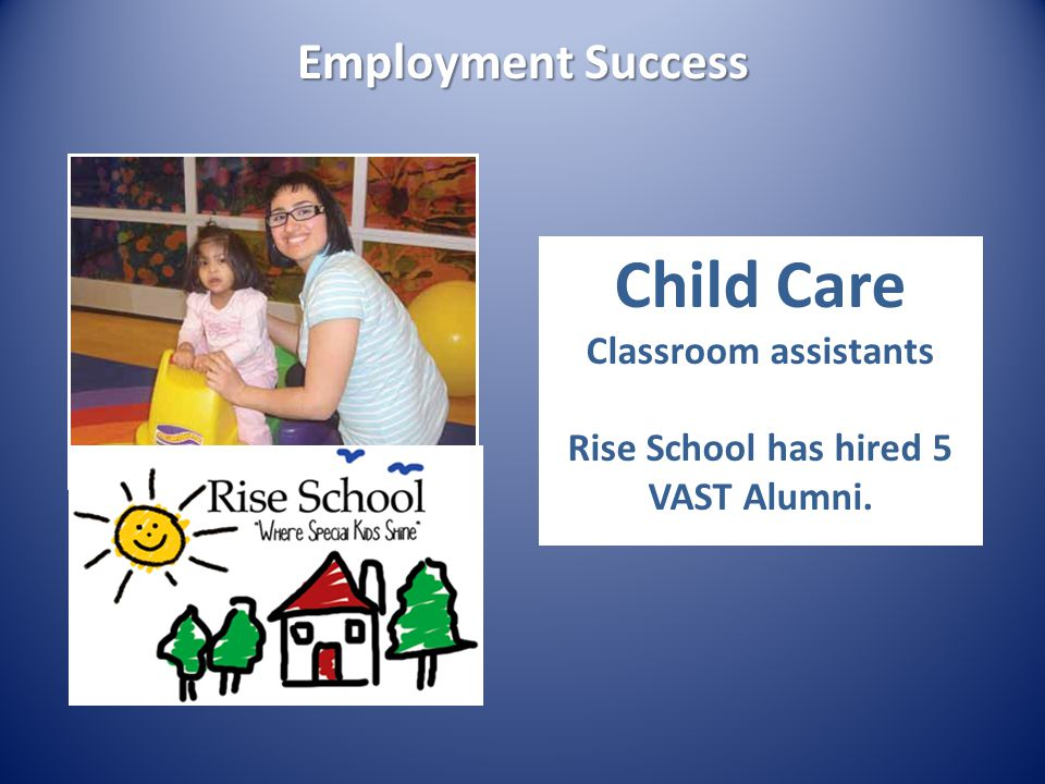 Rise School has hired 5 VAST Alumni.