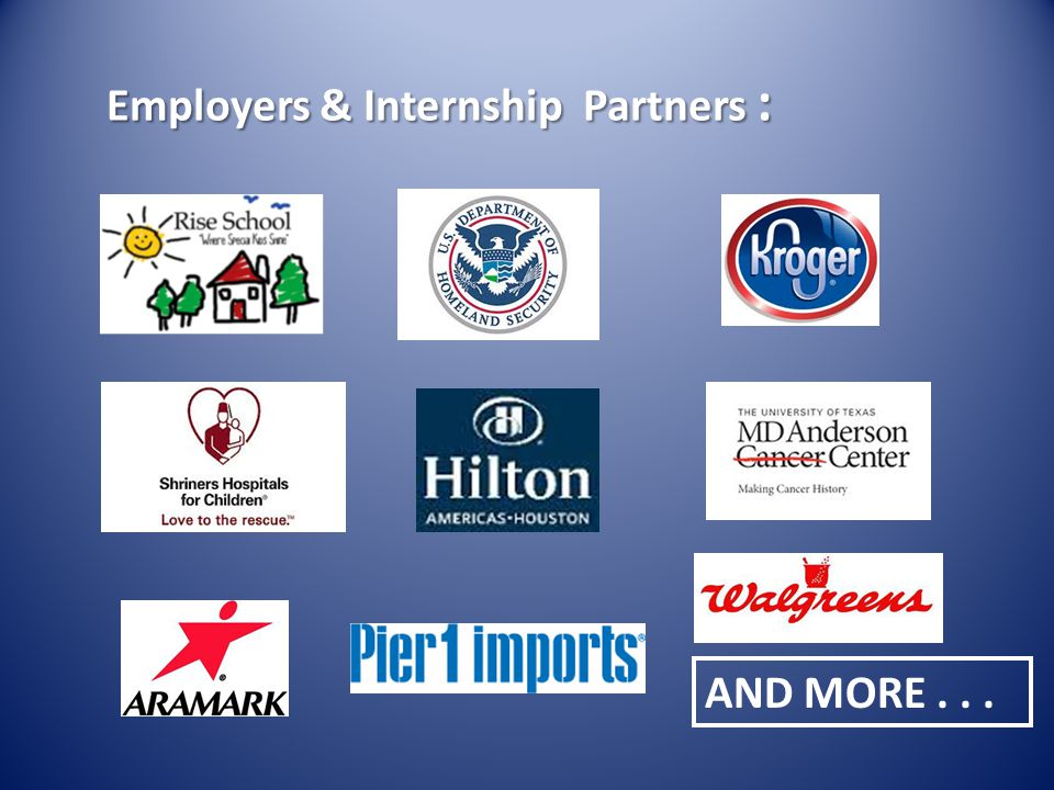 Employers & Internship Partners :