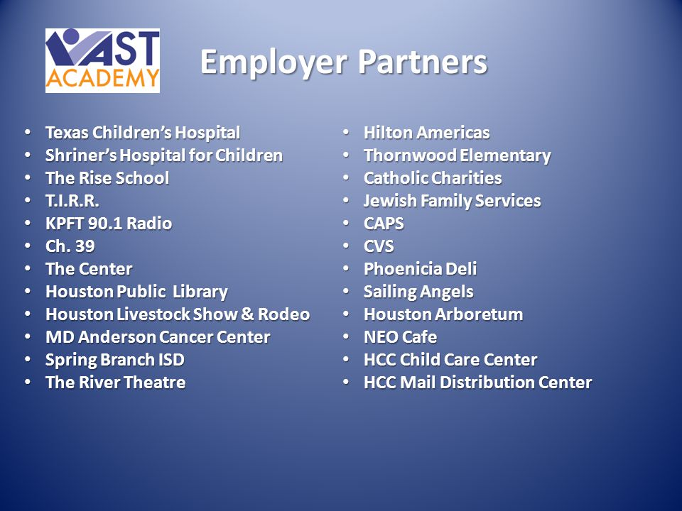 Employer Partners Texas Children's Hospital
