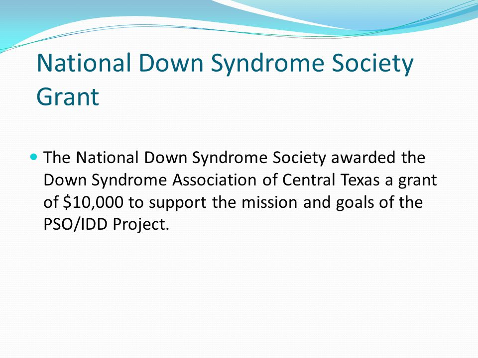 National Down Syndrome Society Grant