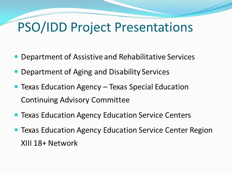 PSO/IDD Project Presentations