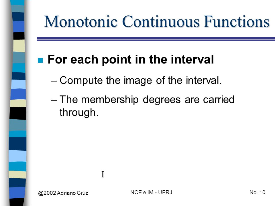 Monotonic Continuous Functions