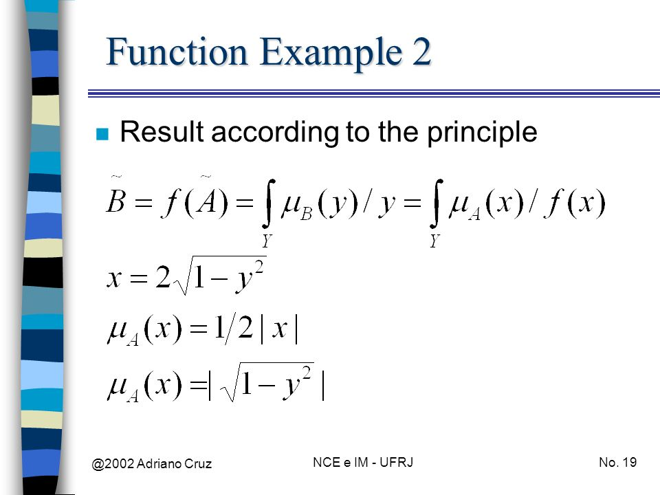 Function Example 2 Result according to the principle