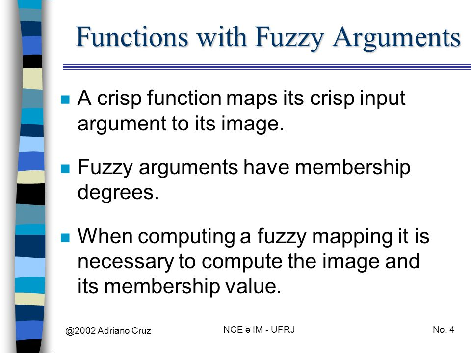 Functions with Fuzzy Arguments