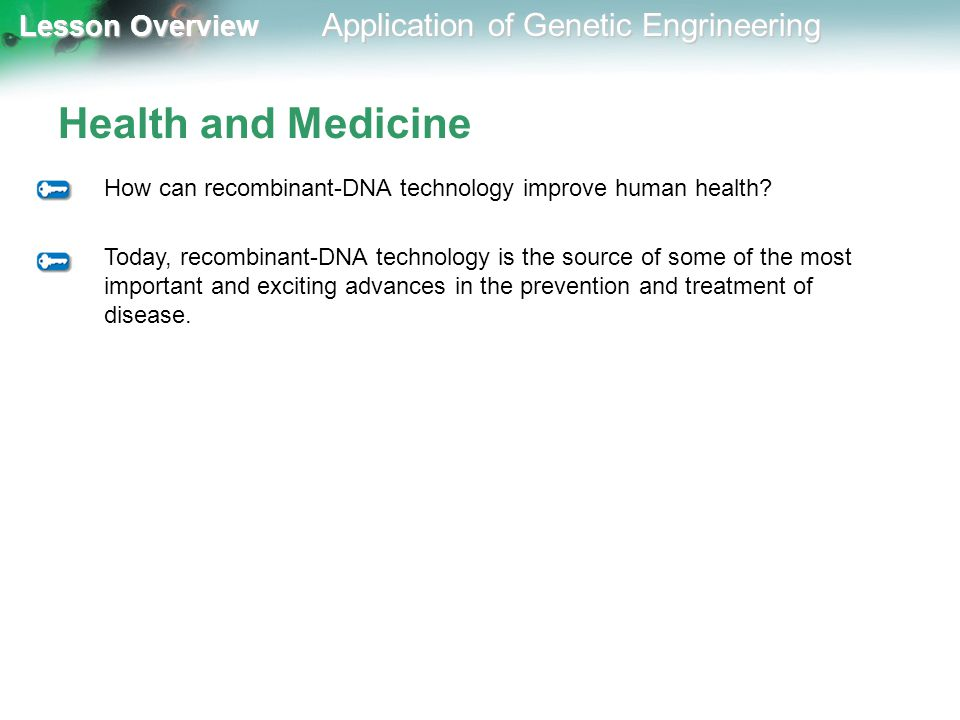 Health and Medicine How can recombinant-DNA technology improve human health