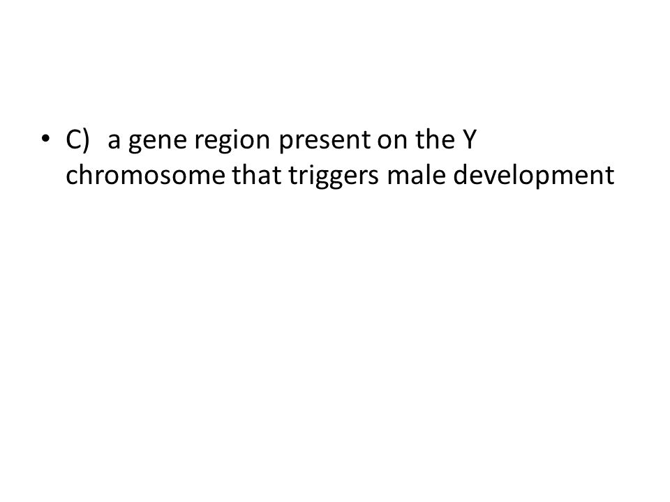 C) a gene region present on the Y chromosome that triggers male development