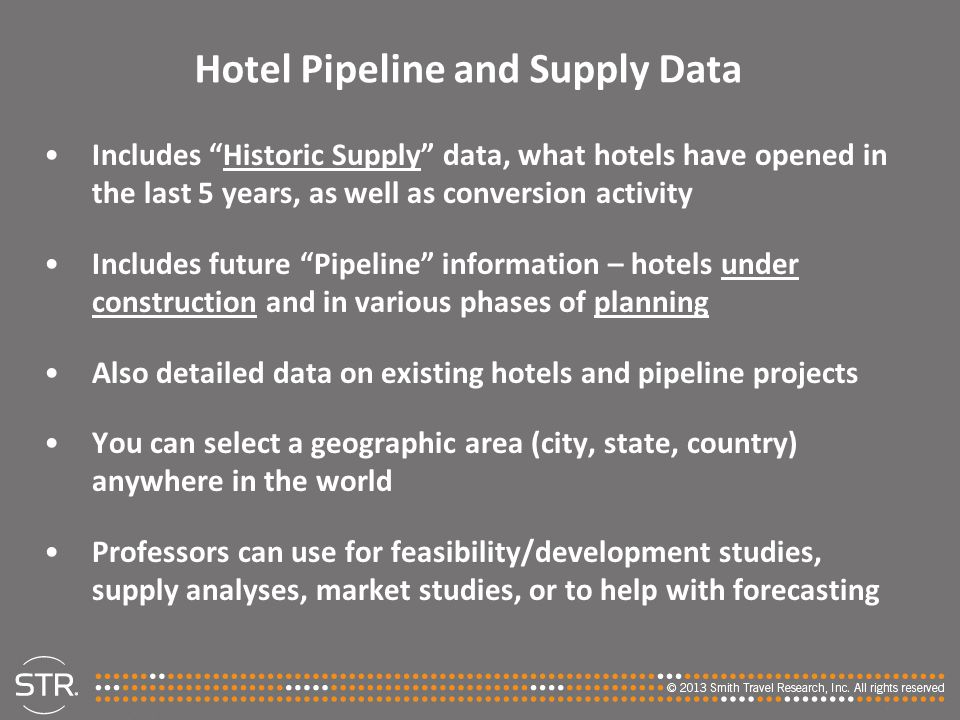 Hotel Pipeline and Supply Data