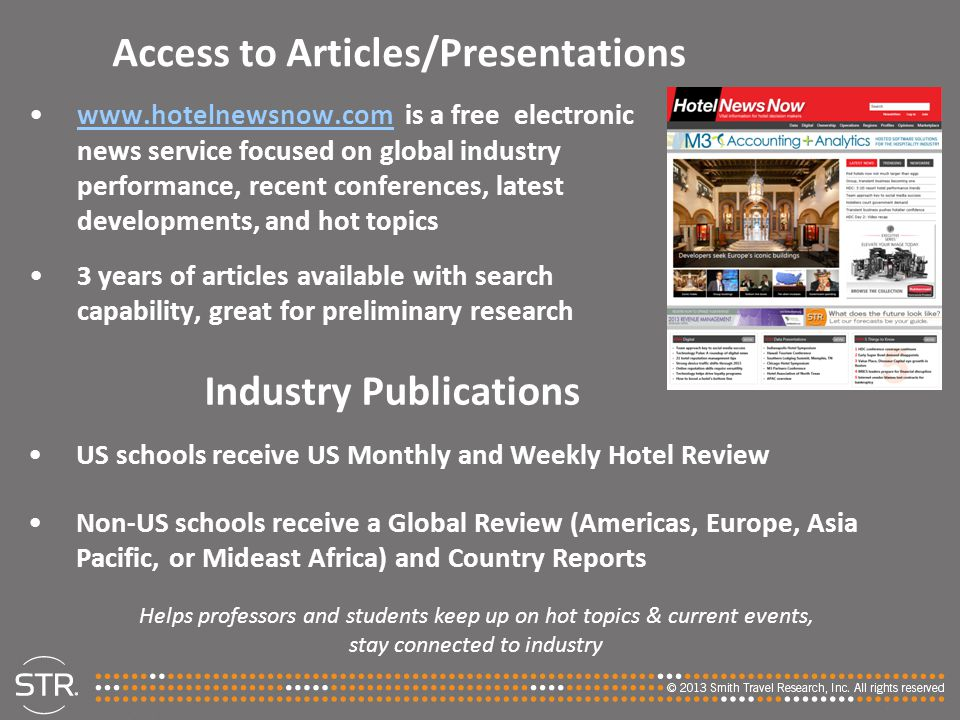 Access to Articles/Presentations