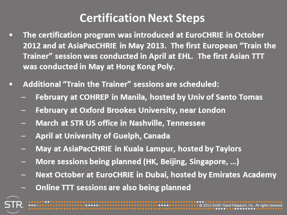 Certification Next Steps