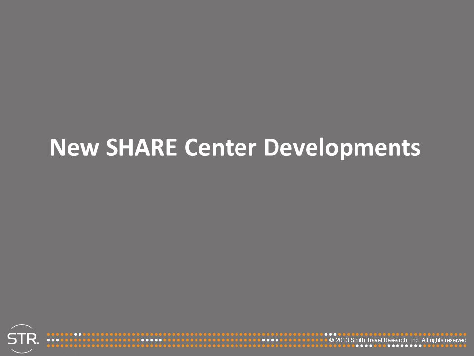 New SHARE Center Developments