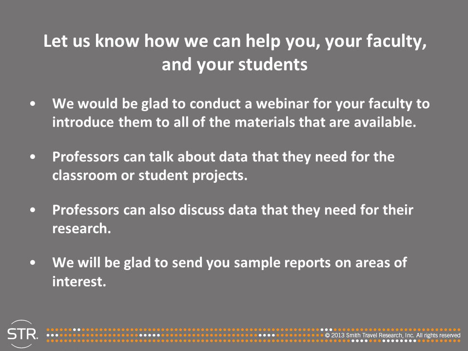 Let us know how we can help you, your faculty, and your students