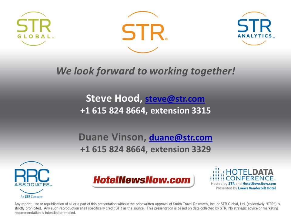 We look forward to working together! Steve Hood, steve@str.com