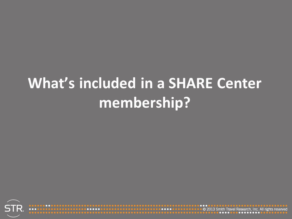 What's included in a SHARE Center membership