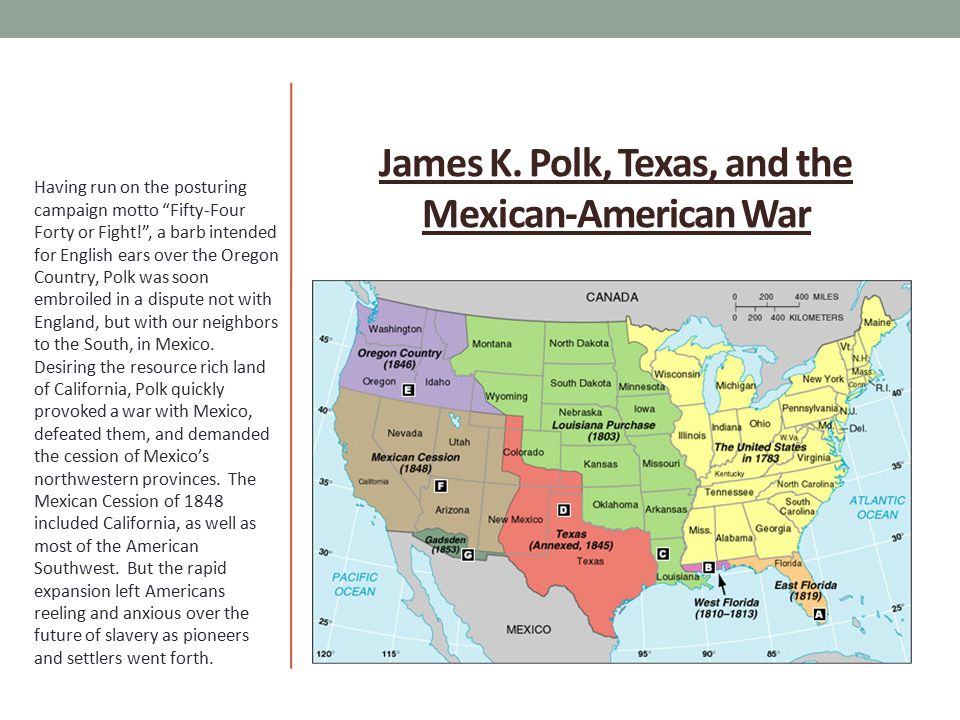 James K. Polk, Texas, and the Mexican-American War