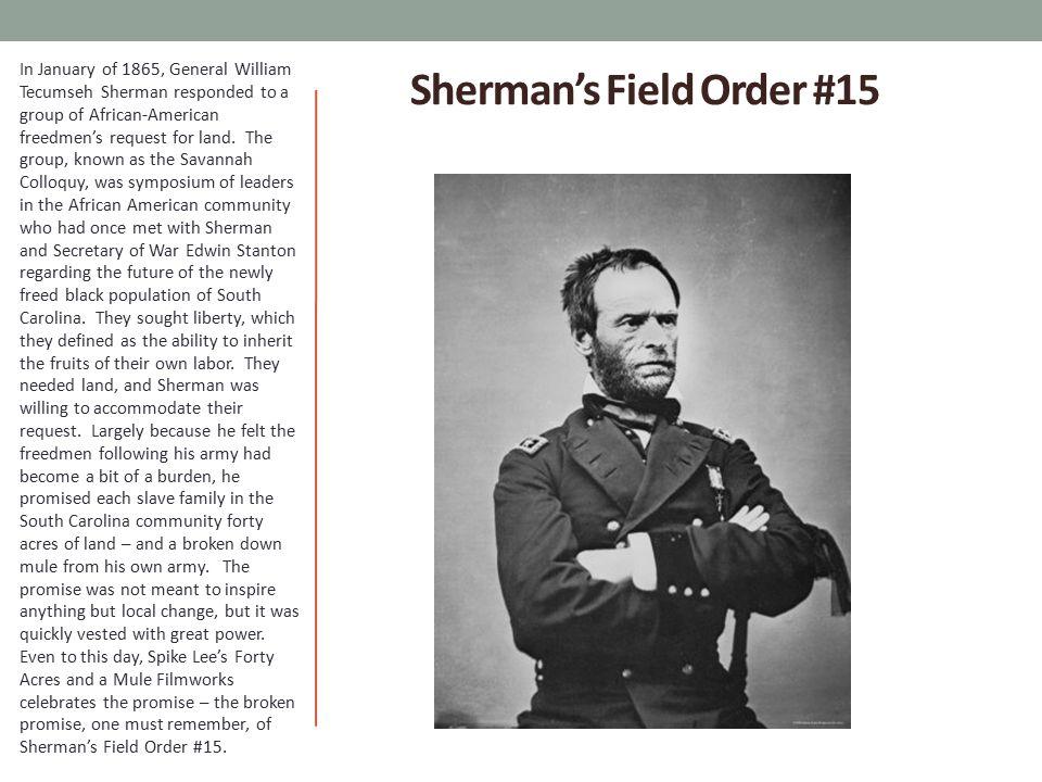Sherman's Field Order #15