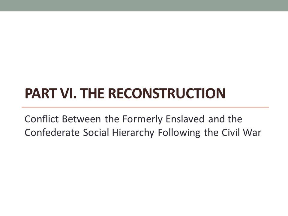 Part VI. The Reconstruction