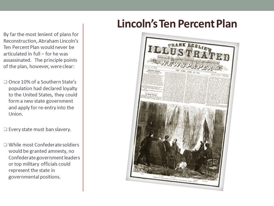 Lincoln's Ten Percent Plan