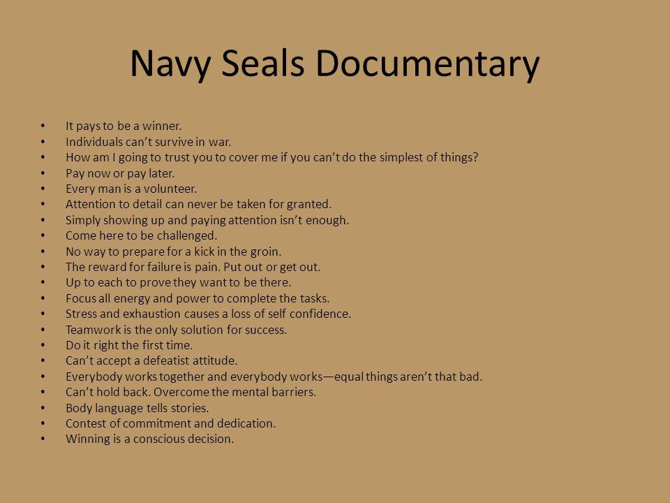 Navy Seals Documentary