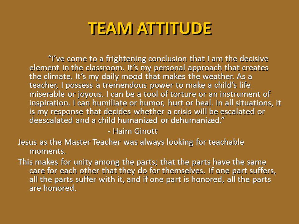 TEAM ATTITUDE