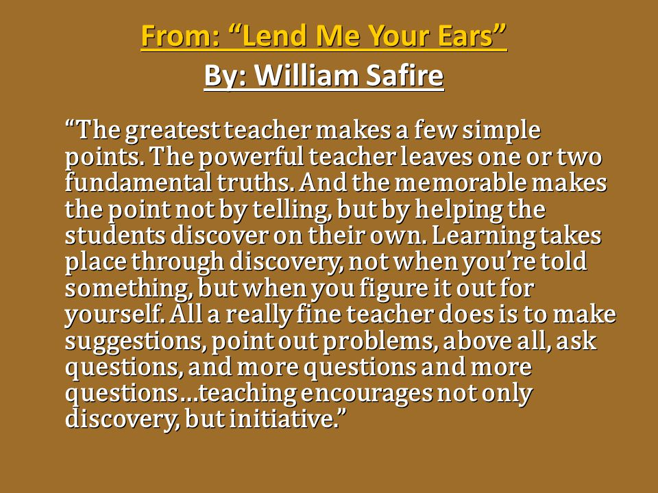 From: Lend Me Your Ears By: William Safire