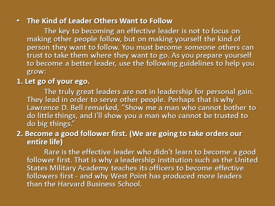 The Kind of Leader Others Want to Follow