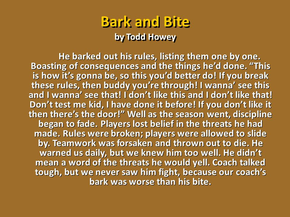 Bark and Bite by Todd Howey