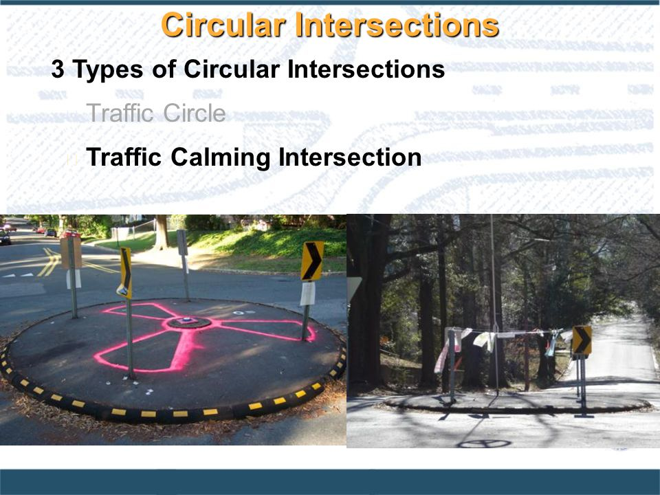Circular Intersections
