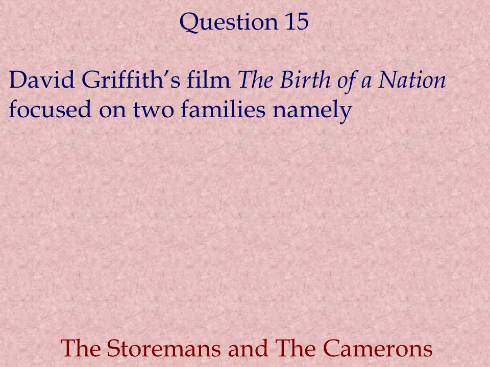 The Storemans and The Camerons