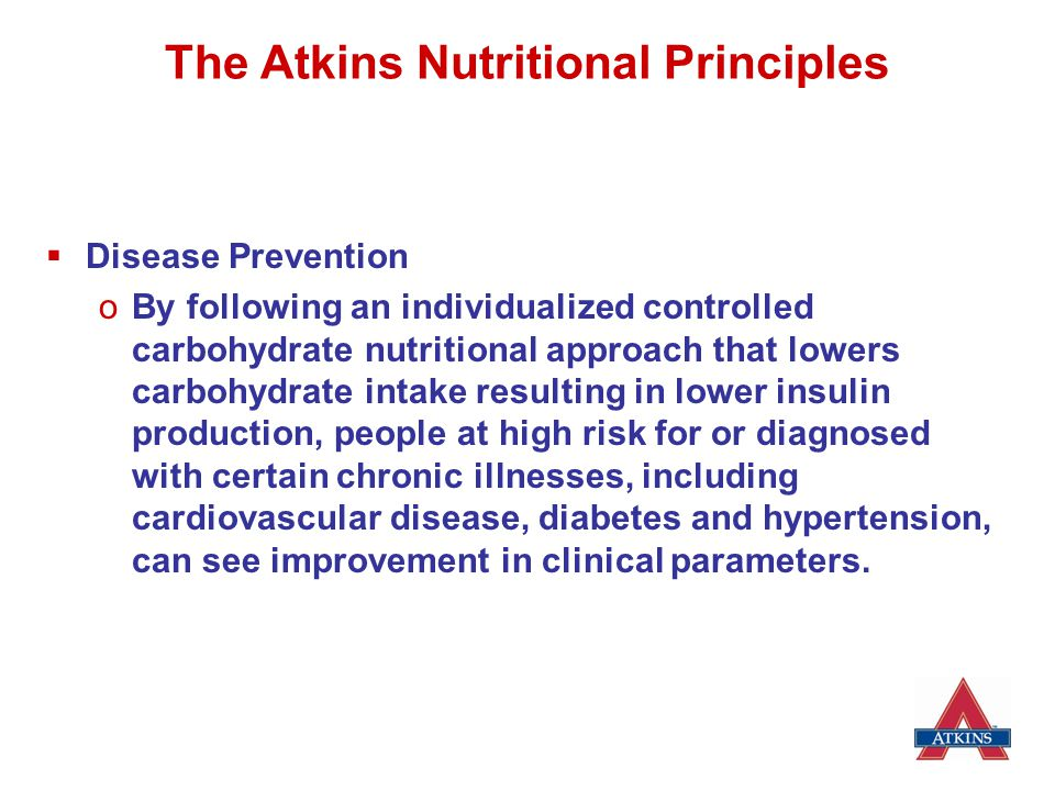The Atkins Nutritional Principles