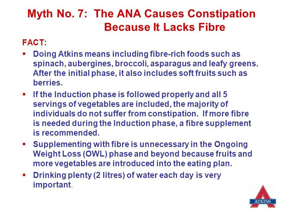 Myth No. 7: The ANA Causes Constipation Because It Lacks Fibre