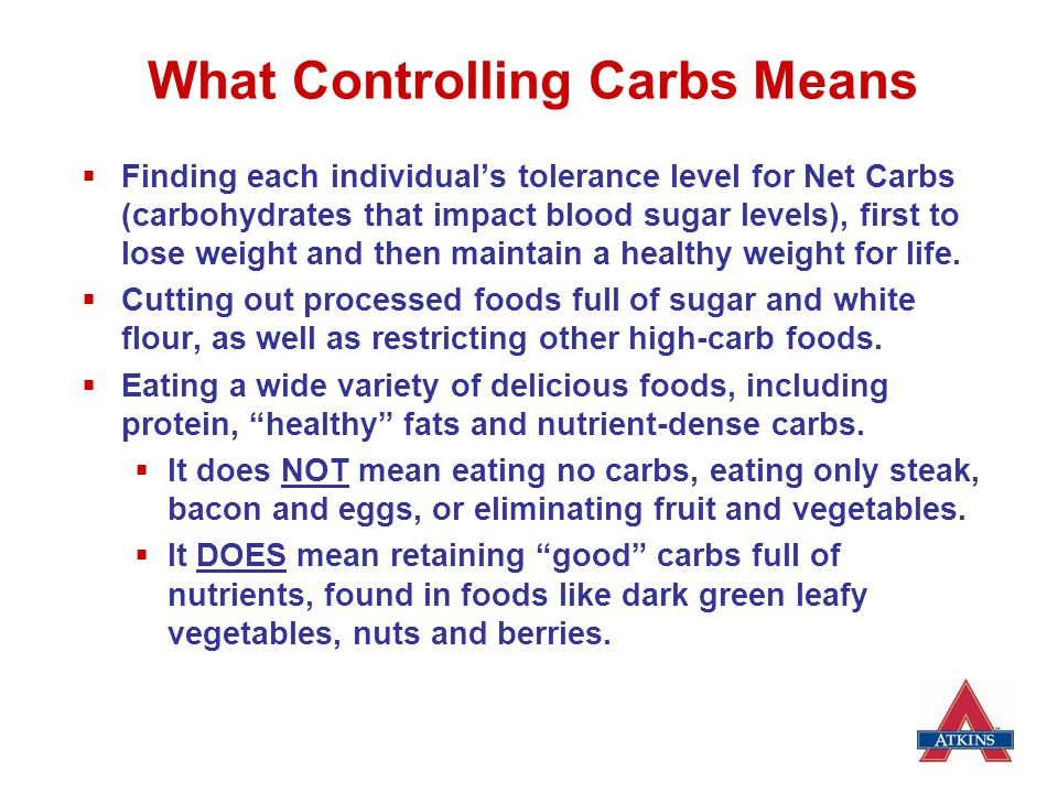 What Controlling Carbs Means