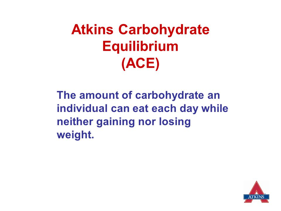 Atkins Carbohydrate Equilibrium (ACE)
