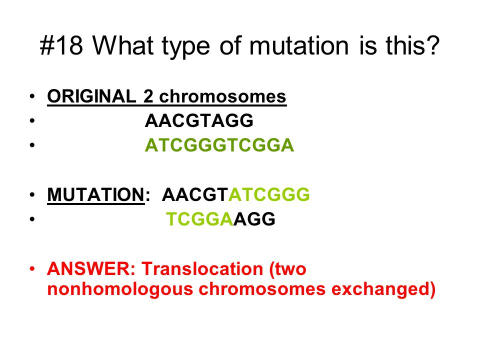 #18 What type of mutation is this