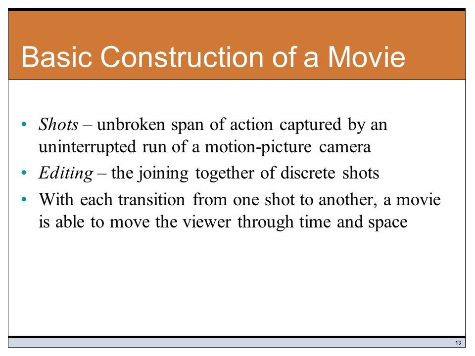 Basic Construction of a Movie