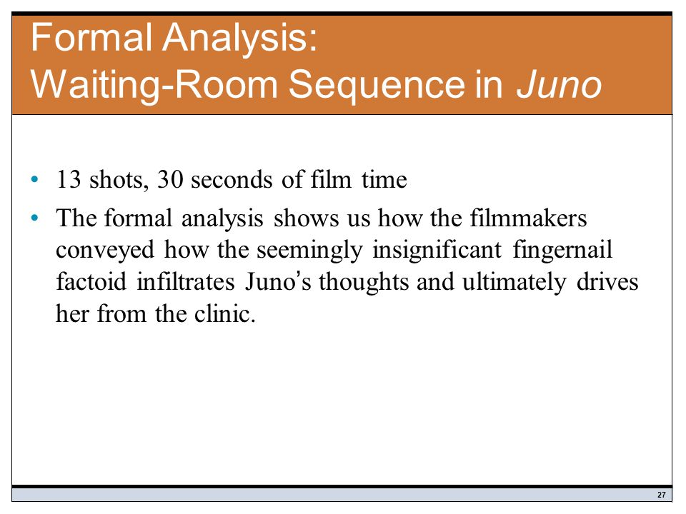Formal Analysis: Waiting-Room Sequence in Juno