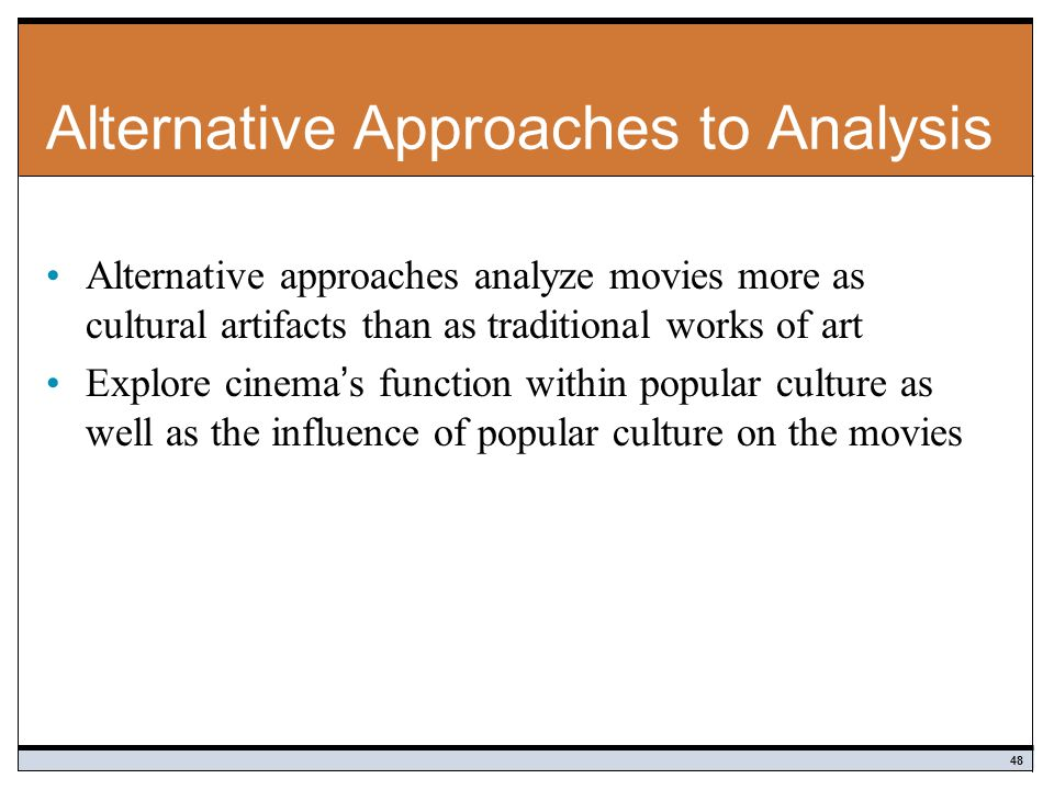 Alternative Approaches to Analysis