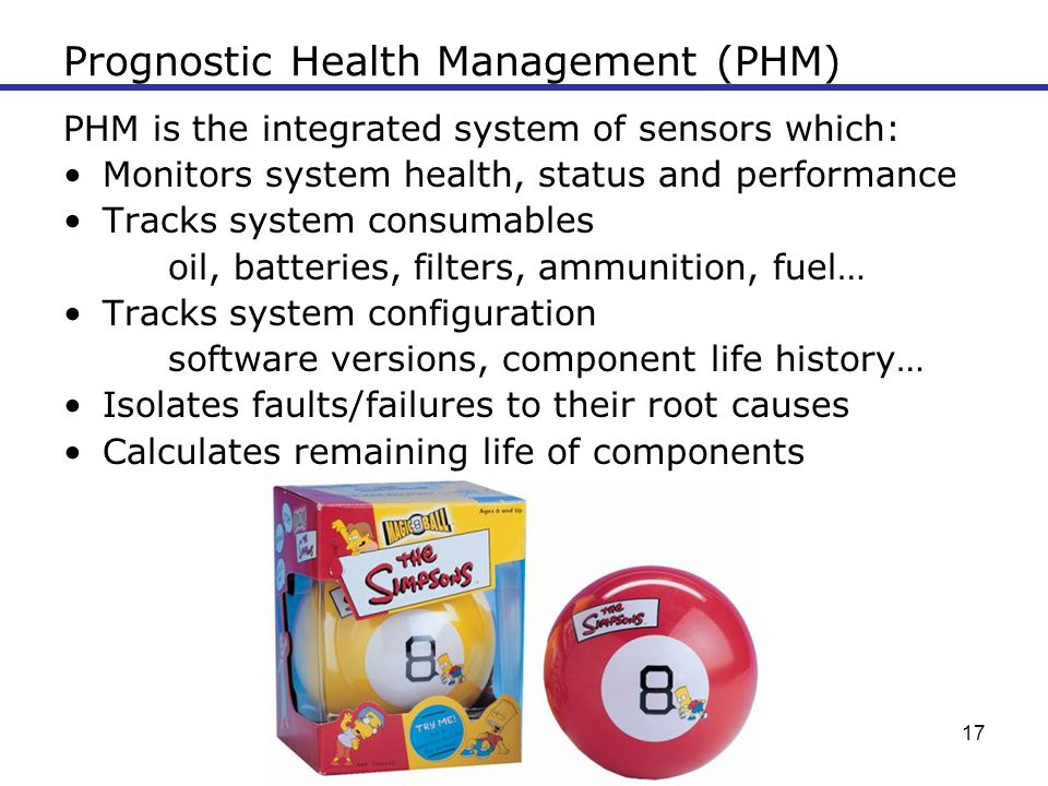 Prognostic Health Management (PHM)