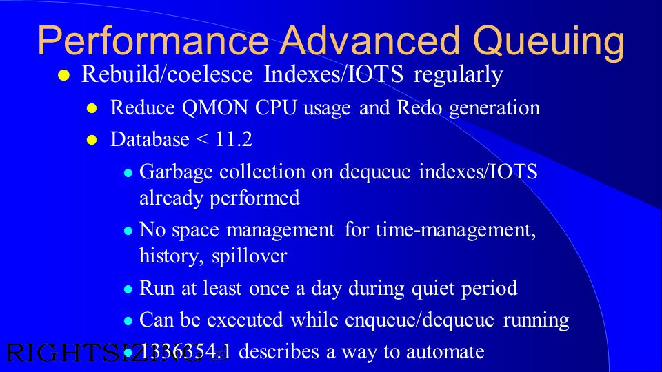 Performance Advanced Queuing