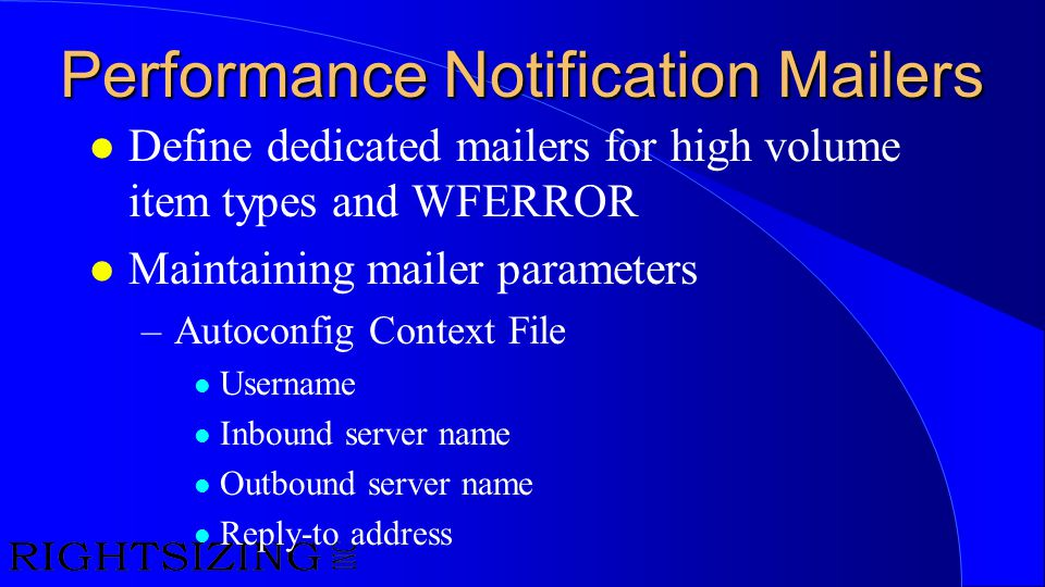 Performance Notification Mailers