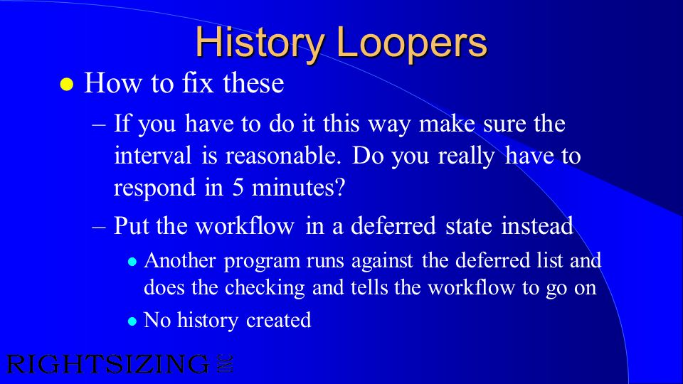History Loopers How to fix these