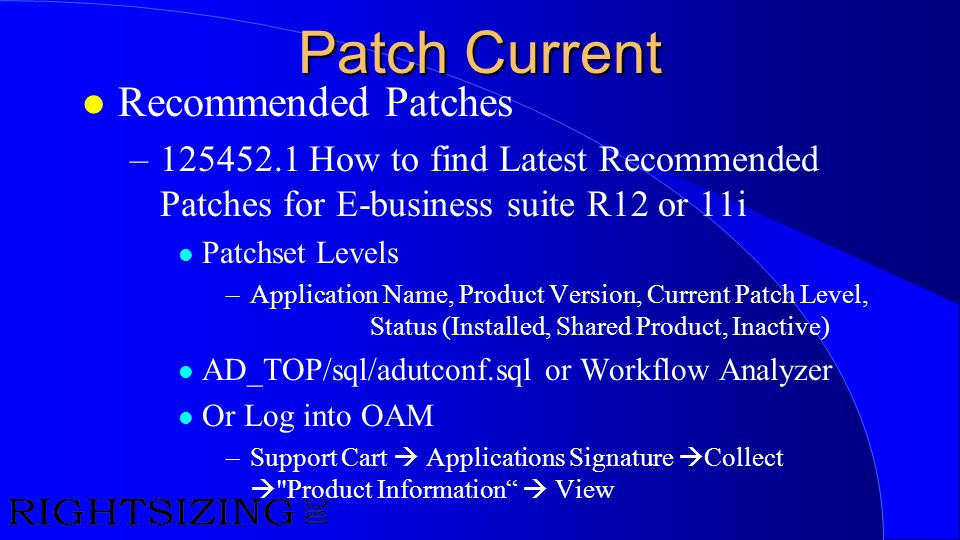 Patch Current Recommended Patches