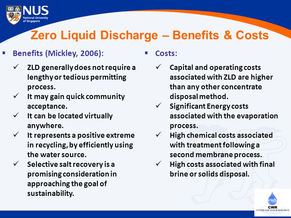 Zero Liquid Discharge – Benefits & Costs