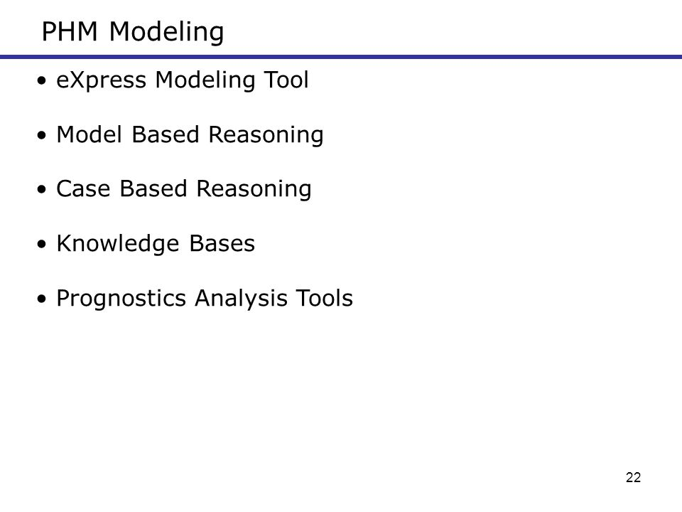PHM Modeling eXpress Modeling Tool Model Based Reasoning
