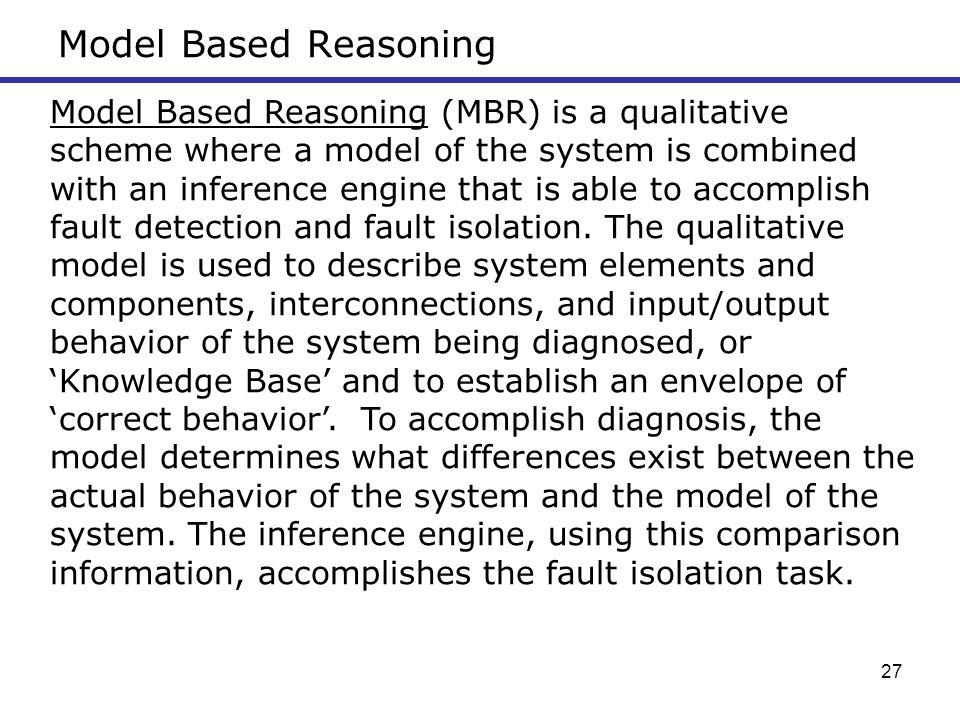 Model Based Reasoning