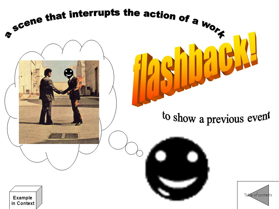 a scene that interrupts the action of a work
