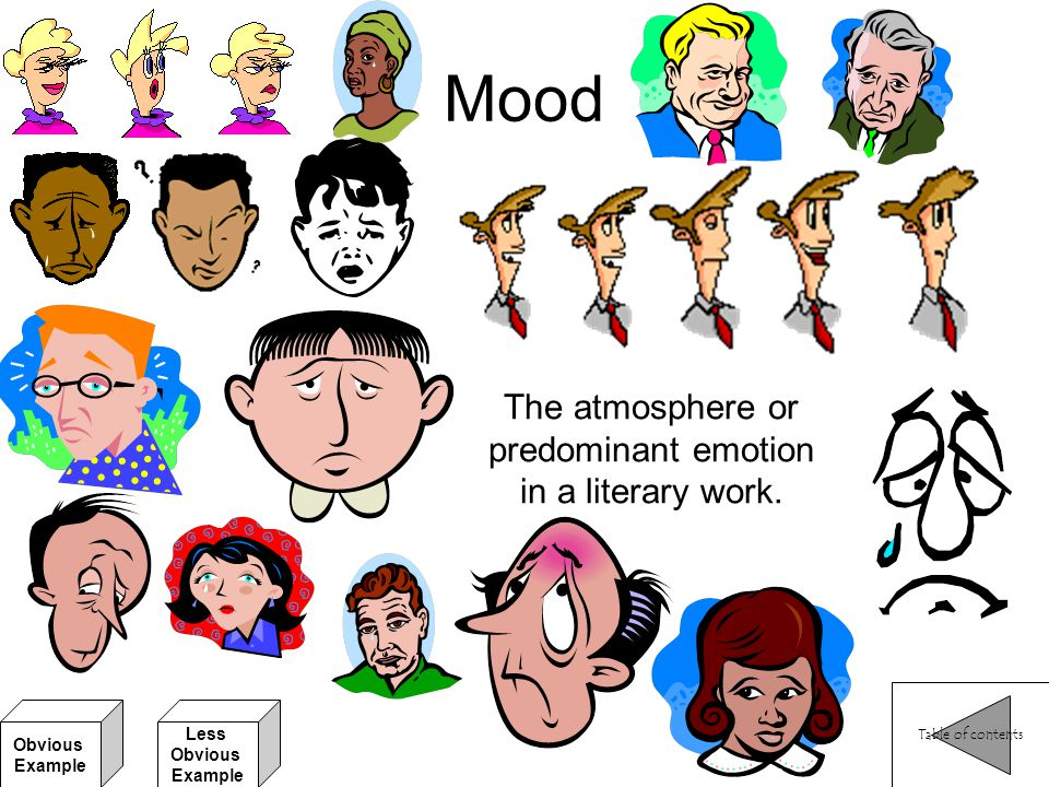 The atmosphere or predominant emotion in a literary work.