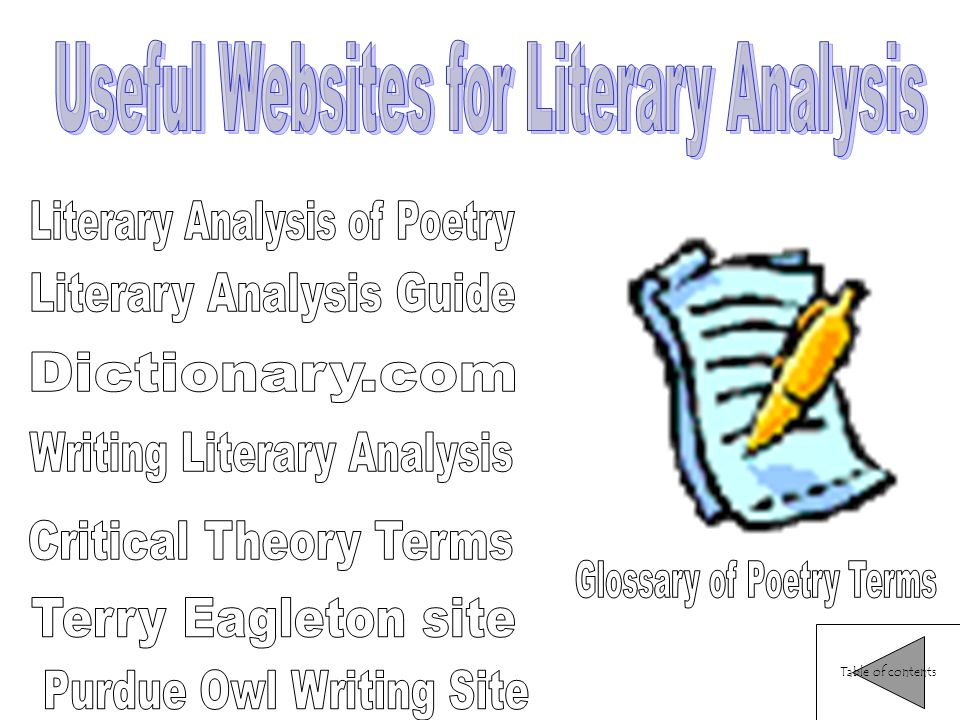 Literature analysis terms