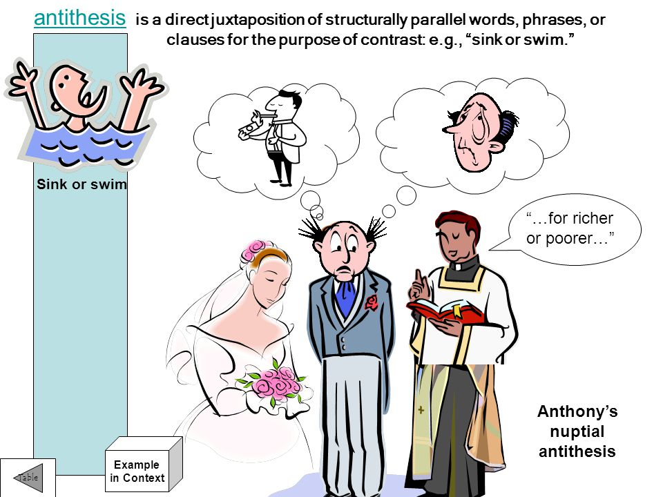 Anthony's nuptial antithesis