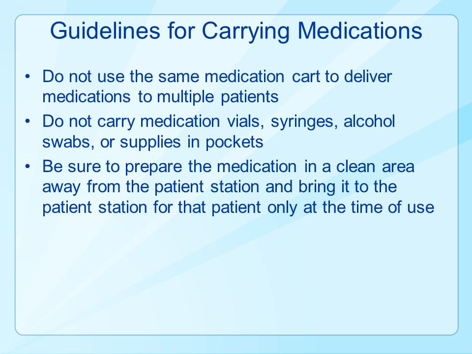 Guidelines for Carrying Medications