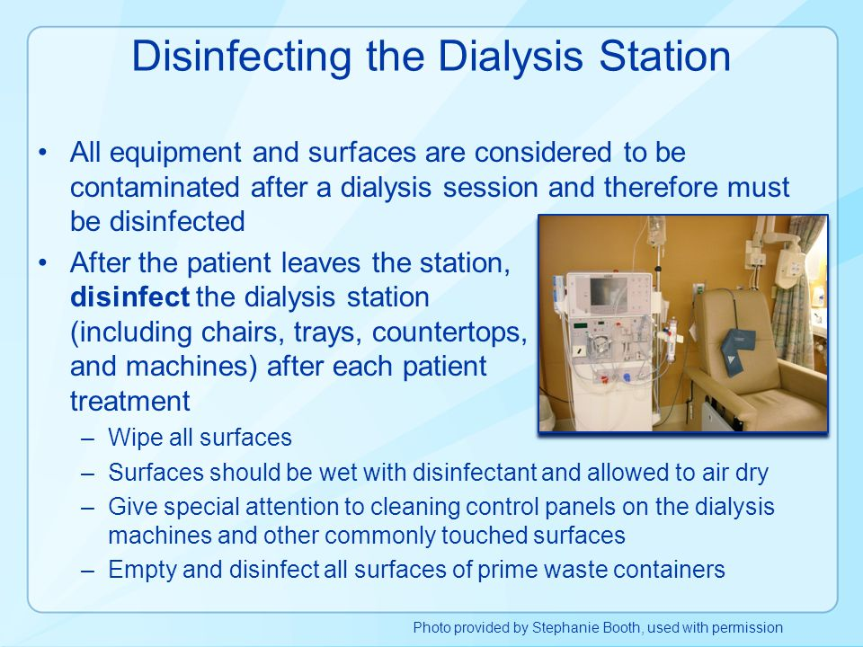 Disinfecting the Dialysis Station